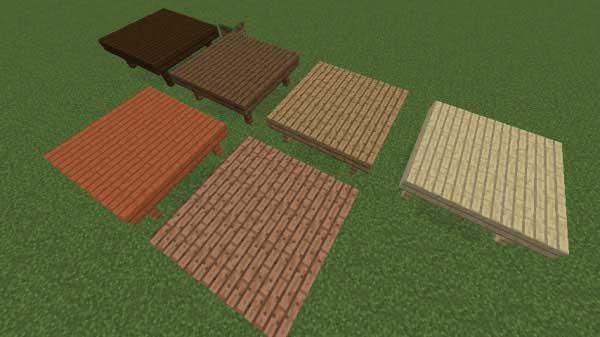 木材6種類の色の比較