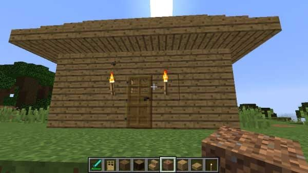 オークのみで作った家