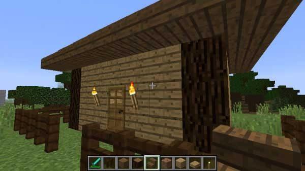 複数の木を組み合わせた家