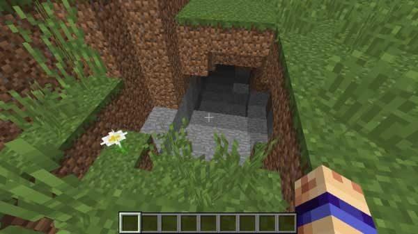地下の丸石