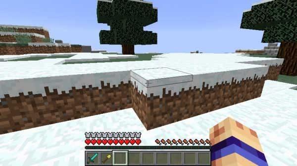 山の上の雪