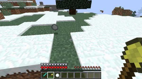 ドロップした雪玉