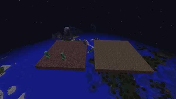 土ブロックと草の道ブロック