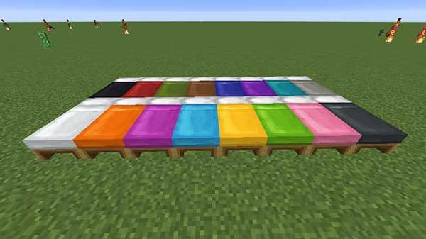 全16色のベッド