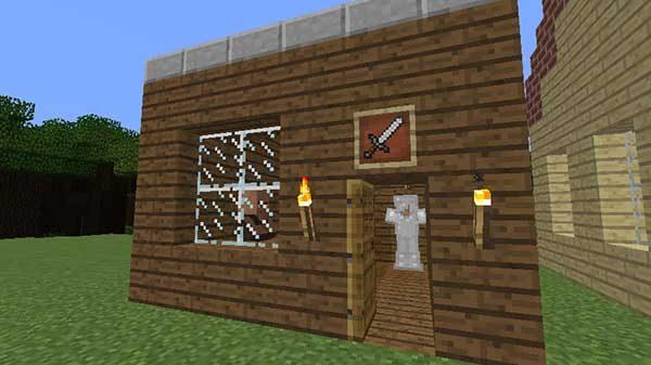 マツの木材で作った武器屋