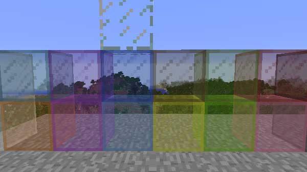 全16色の色つきガラスとガラス
