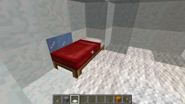 イグルーの中のベッド