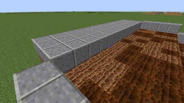 水流を広げる部分の土台