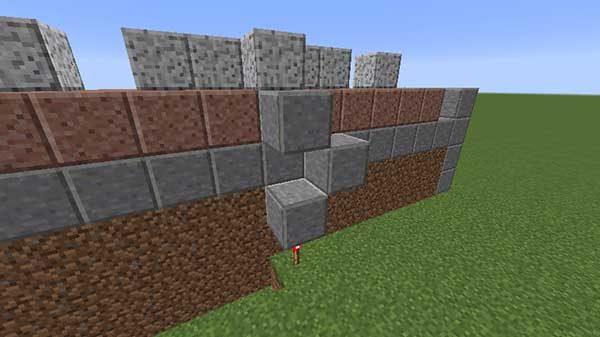 レッドストーントーチの上のブロック