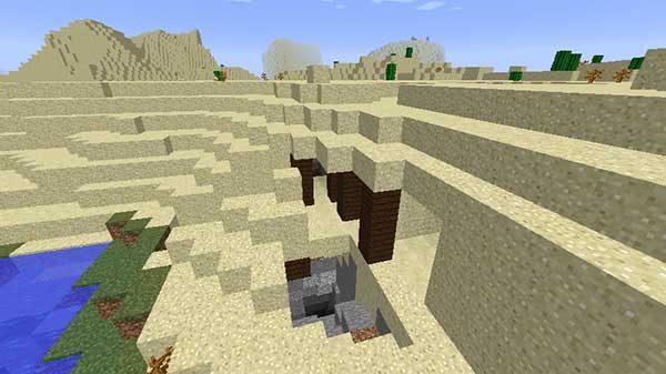 砂漠の坑道