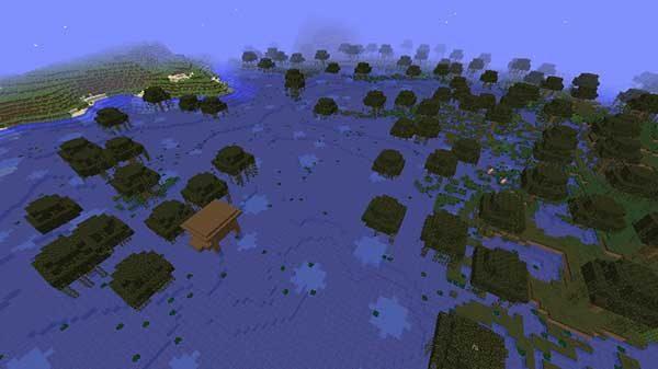 ウィッチの小屋がある湿地帯