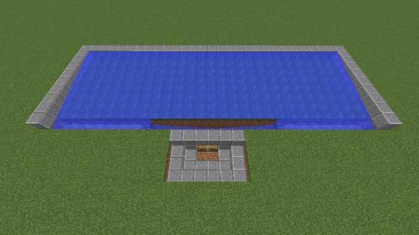 完成した水路