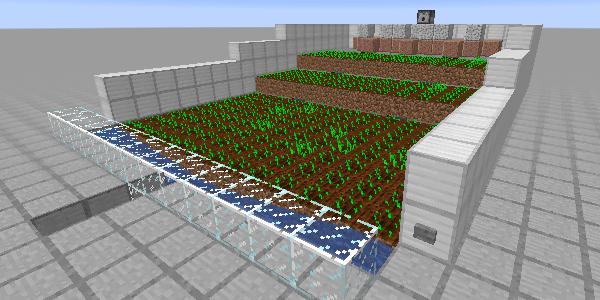 植えられた自動収穫機