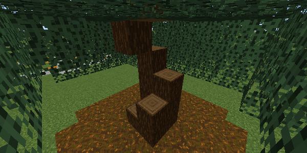 螺旋状に切られた原木