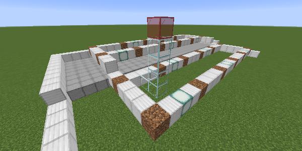 苗木の横の制限ブロック