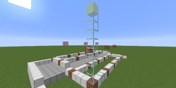 苗木の上の制限ブロック