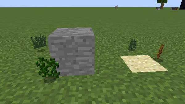 アイテム化した草とツタとシダと枯れ木