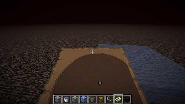 岩盤の上にブロックを置いたときの地図
