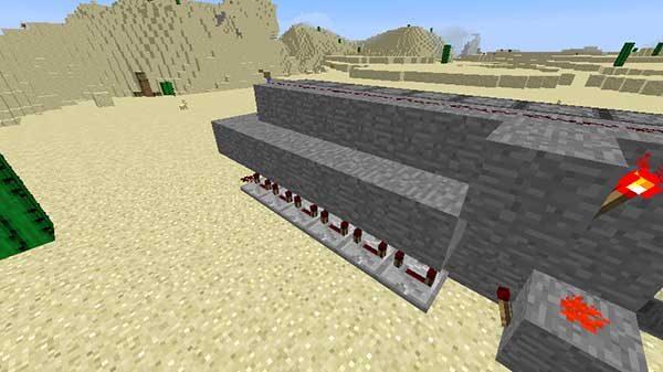 リピーターの上のブロック