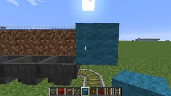 端に設置するブロック(羊毛)