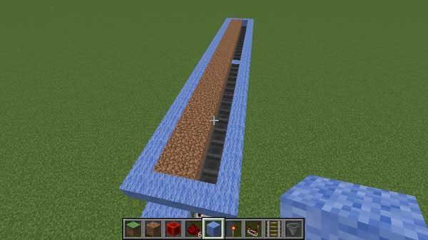 設置された土ブロック