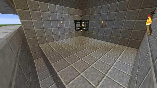 湧き部屋の床と水路