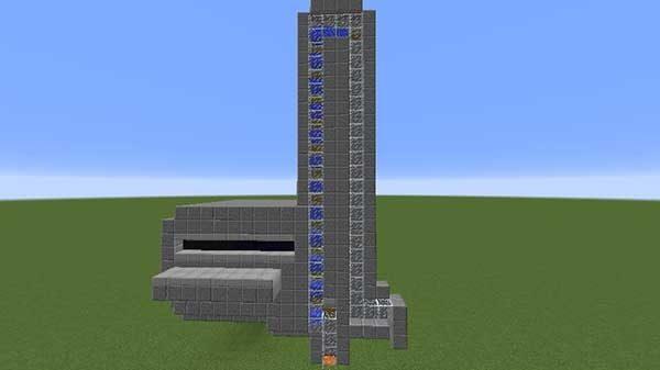 水流エレベーターの外観