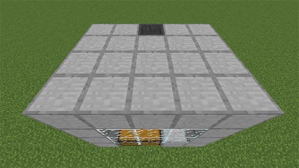 水流を塞ぐブロック