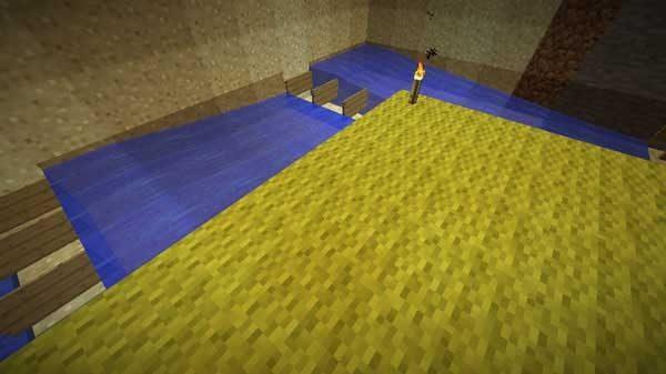 水路の角の看板と水の設置方法