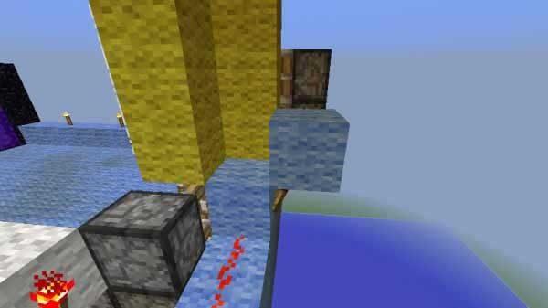 トーチの上の不透過ブロック