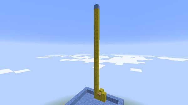 待機場所から積み上げられたブロック