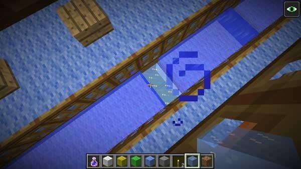 設置された氷ブロック