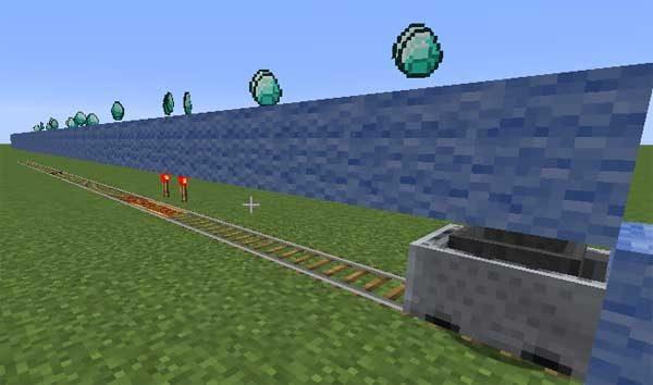 アクティベーターレールの上を通過する実験