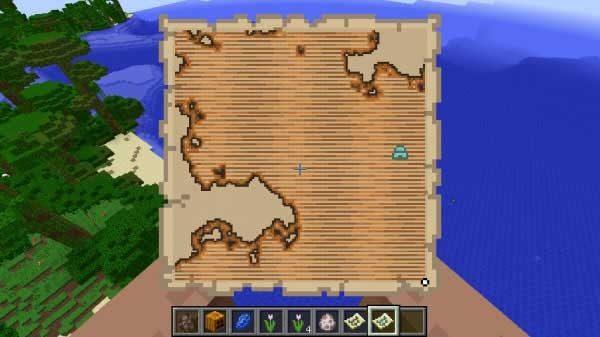 海洋探検家の地図上のアイコン