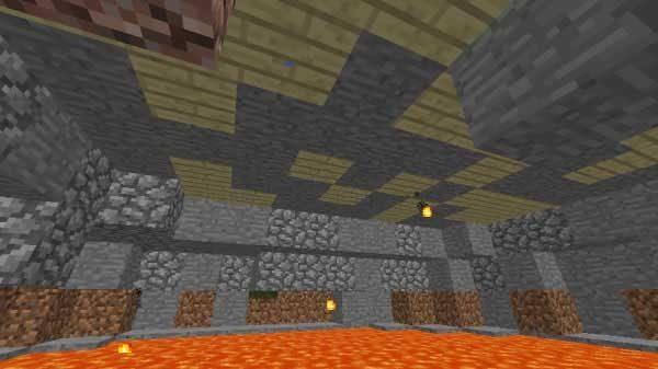 館の地下に生成された溶岩だまり