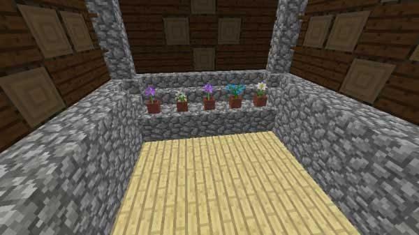 植木鉢の部屋