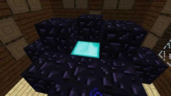 黒曜石の部屋のダイヤモンドブロック