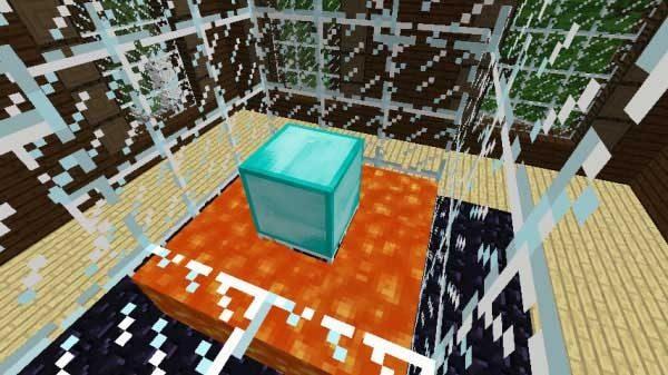 溶岩の部屋のダイヤモンドブロック