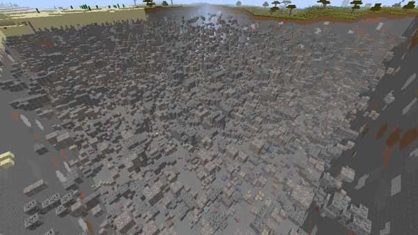 地中に埋まっている大量の鉱石