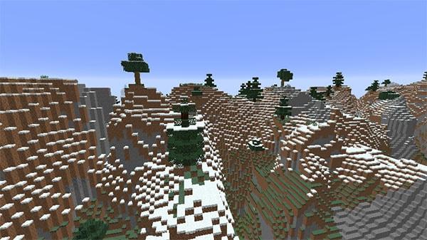 森のある山