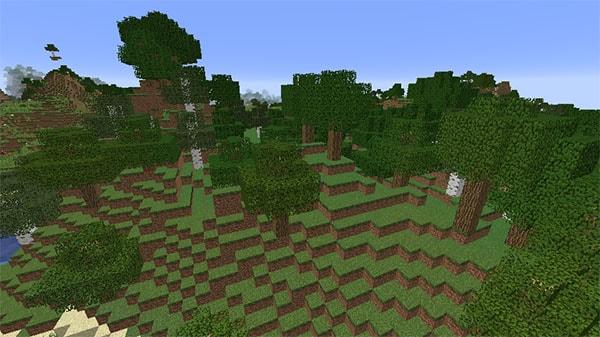 森のある丘陵