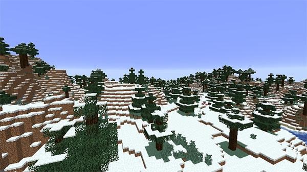 雪の降るタイガ