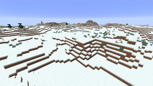 雪のツンドラ