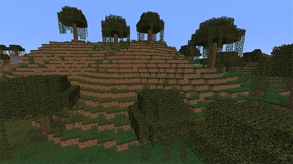 湿地の丘陵