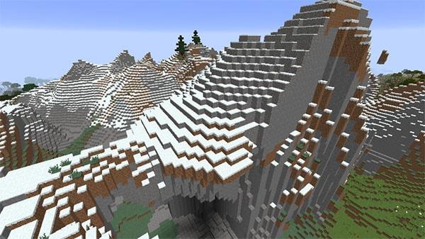 変異した砂利の山
