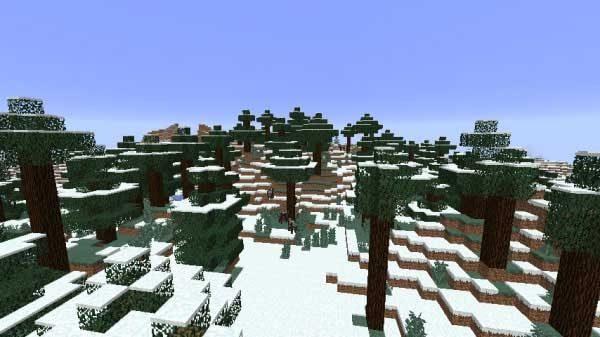 凍ったタイガの丘