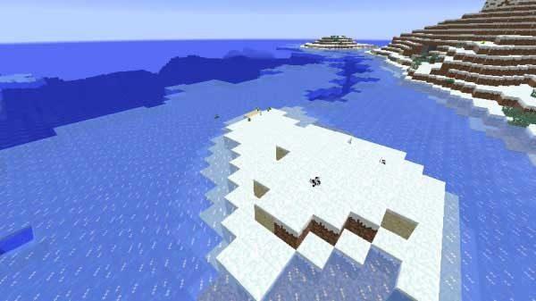 凍った海岸
