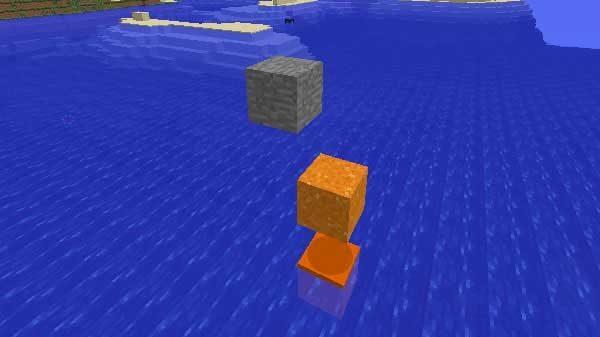 水面で止まるコンクリートパウダー