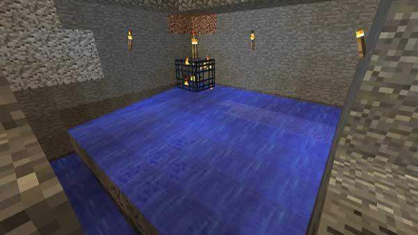 スポーン部屋の水流