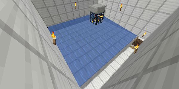 スポーン部屋の床の水流